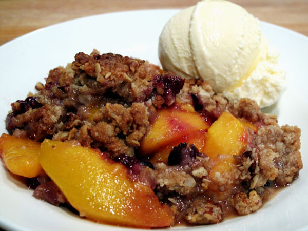 Easy Peach Blueberry Crumble Cook Like James