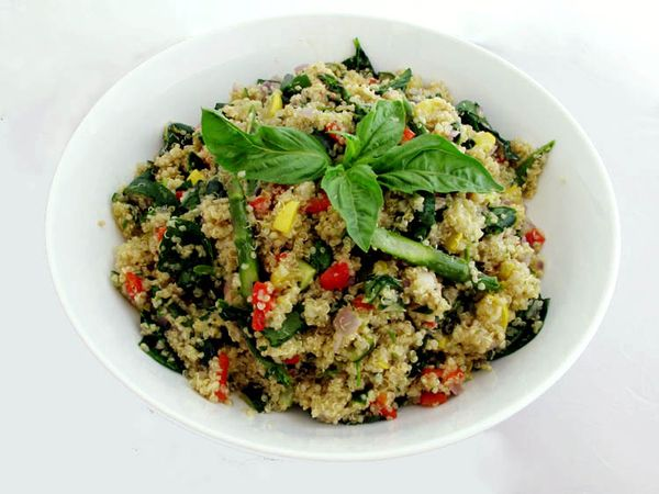 Sheryl Crow S Roasted Spring Vegetables With Quinoa Cook