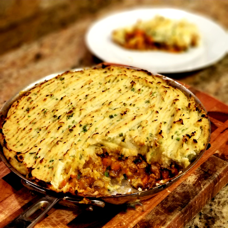 Cauliflower Topped Turkey Shepherd's Pie
