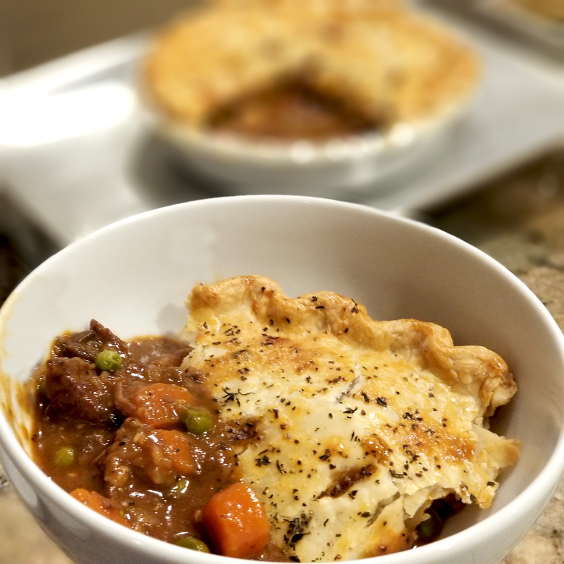 Classic Beef Pot Pie Serving