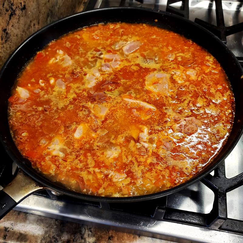 Quick Skillet Paella arborio rice