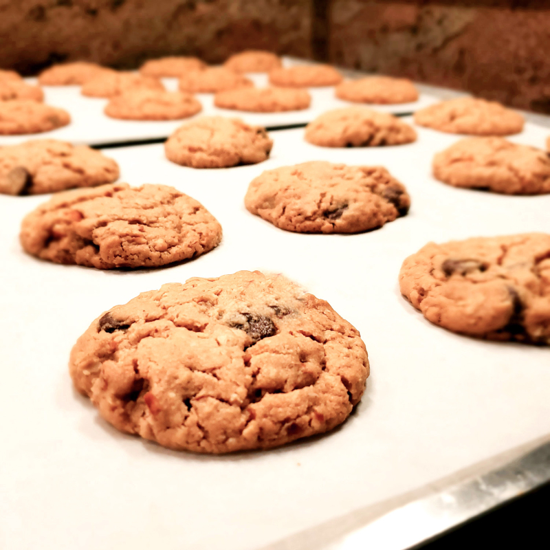 Salted Peanut Butter–Oatmeal-Pretzel–Chocolate Chip Cookies