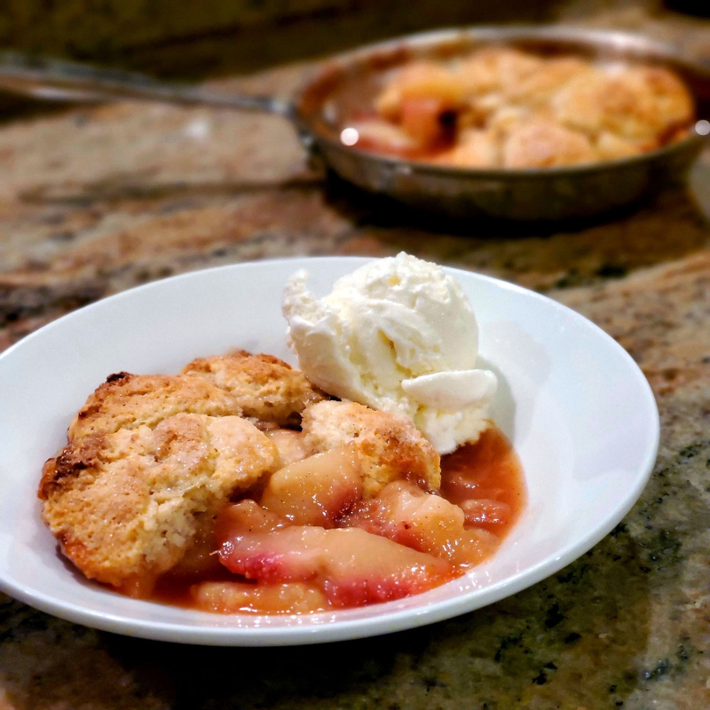 Fresh Peach Cobbler for Two serving