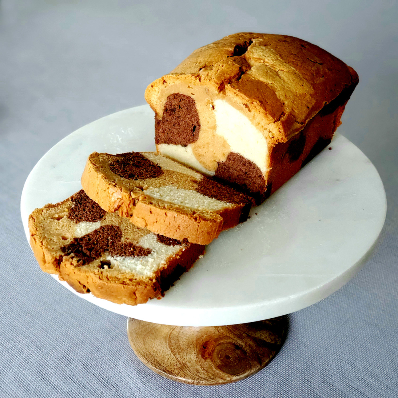 Triple Flavored Marble Pound Cake