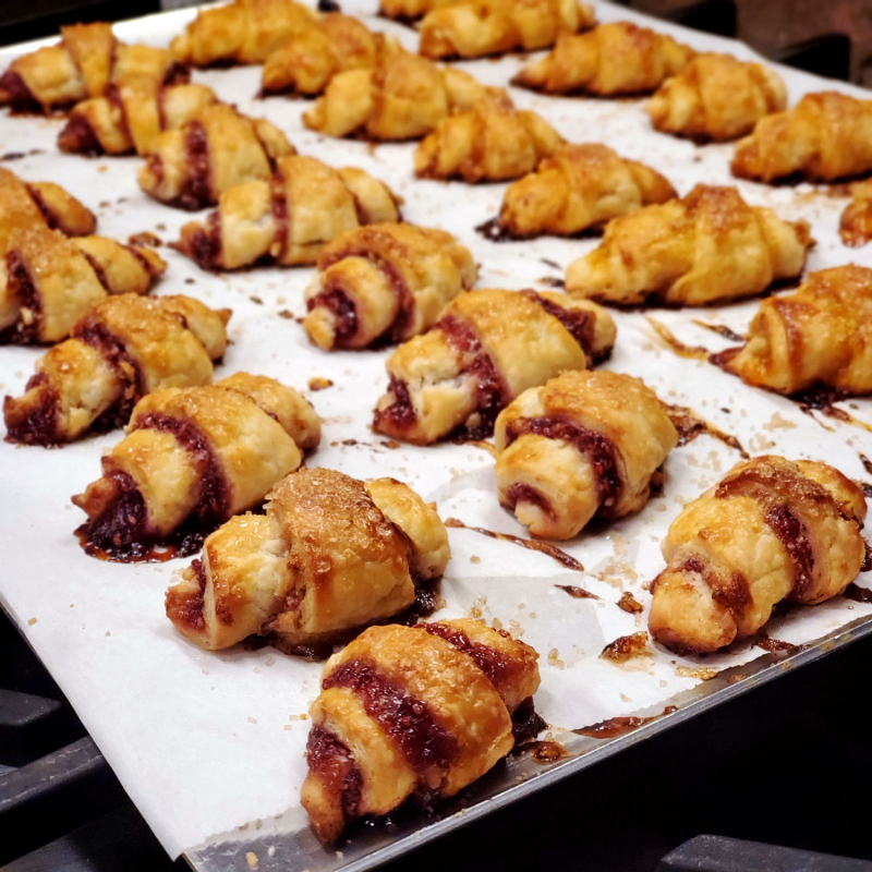Perfect Jam-Filled Rugelach raspberry dough