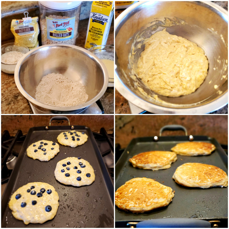 Best Blueberry Whole Oat Buttermilk Pancakes ingredients